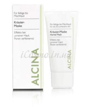 Маска для жирной кожи с растительными экстрактами Alcina Herbal Mask, 50 мл.
