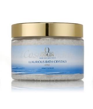 Соль для ванны Яблоко GOLDI Luxurious Bath Crystals Apple, 350 мл.