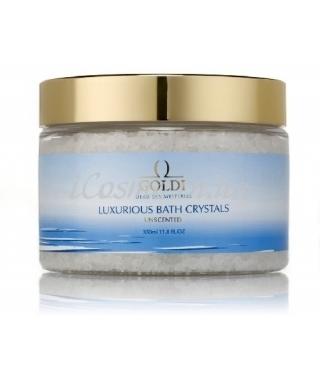Соль для ванны Без запаха GOLDI Luxurious Bath Crystals Unscented, 350 мл.