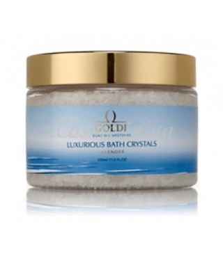 Соль для ванны Лаванда GOLDI Luxrious Bauth Crystals Lavender, 350 мл.