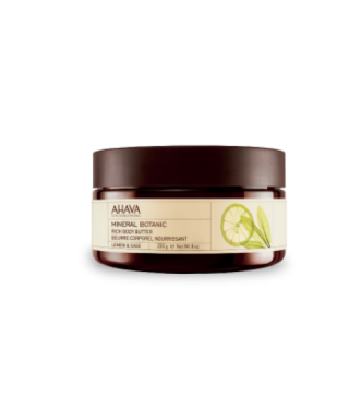Масло для тела лимон/шалфей AHAVA - Body Butter Mineral Botanic Lemon Sage, 235мл.