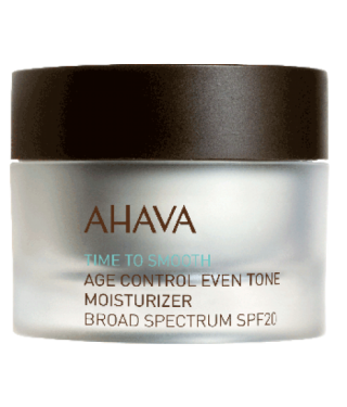 Крем омолаживающий увлажняющий, выравнивающий тон кожи SPF 20 AHAVA - Age Control Even Tone Moisturizer SPF 20, 50мл.