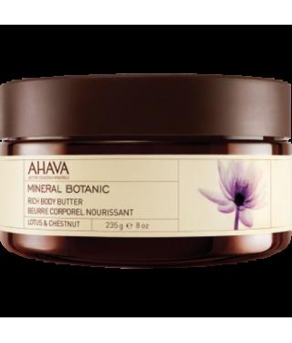 Масло для тела лотос/сладкий каштан AHAVA - Body Butter Mineral Botanic Lotus, 235мл.