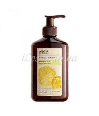 Нежное молочко для тела ананас/белый персик AHAVA - Mineral Botanic Body Lotion Pineapple and White Peach, 400мл.