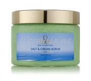 Солевой крем-скраб Огурец и Дыня GOLDI Salt & Cream Scrub Cucumber Melon, 350 мл.