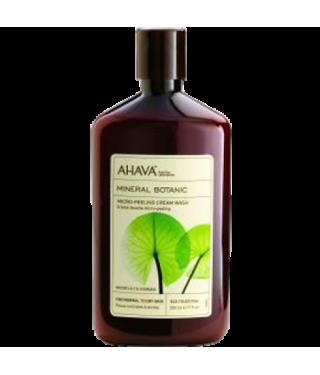 Отшелушивающий крем для душа кувшинка/гуарана AHAVA - Mineral Botanic Micro-Peeling Lily, 500мл.